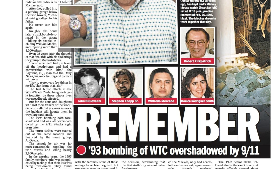 The overlooked victims of the 1993 World Trade Center attack